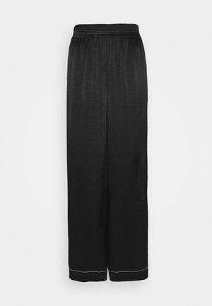 DOBBY PAJAMA PANT - Trousers - black