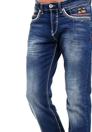 MANTER - Straight leg jeans - blau