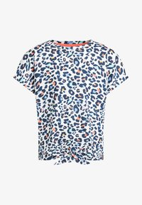 WE Fashion - T-shirt print - blue, off-white - 3