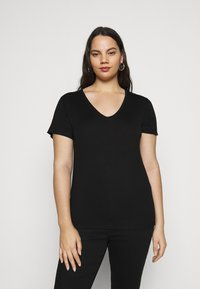 Anna Field Curvy - 2 PACK  - Basic T-shirt - black / white - 4
