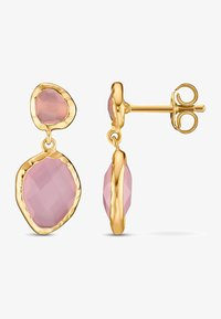QOOQI - Earrings - gelbgold - 1