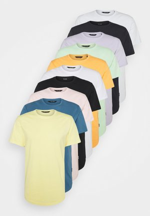 ONSMATT LIFE LONGY TEE 10 PACK - T-shirt basic - white/blush/bride/heather/green/papaya/icemelt/navy/black