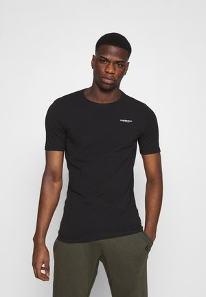 SLIM BASE R T - T-shirt - bas - black