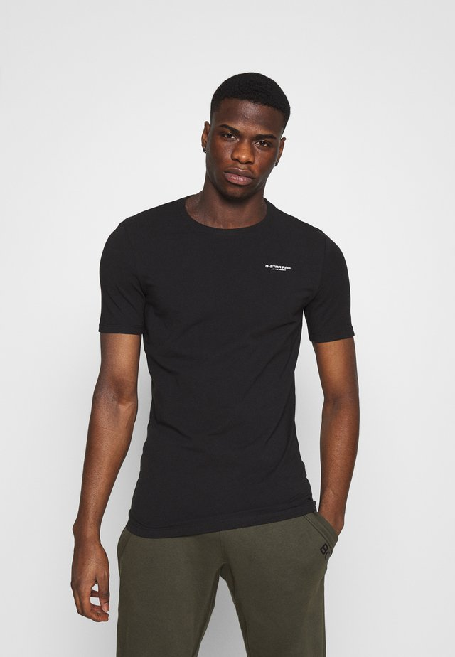 SLIM BASE R T - Basic T-shirt - black