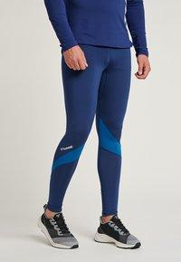 Hummel - HMLALONZO  - Leggings - medieval blue - 0
