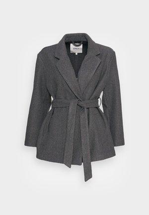 ONLTRILLION BELT COATIGAN - Light jacket - medium grey melange