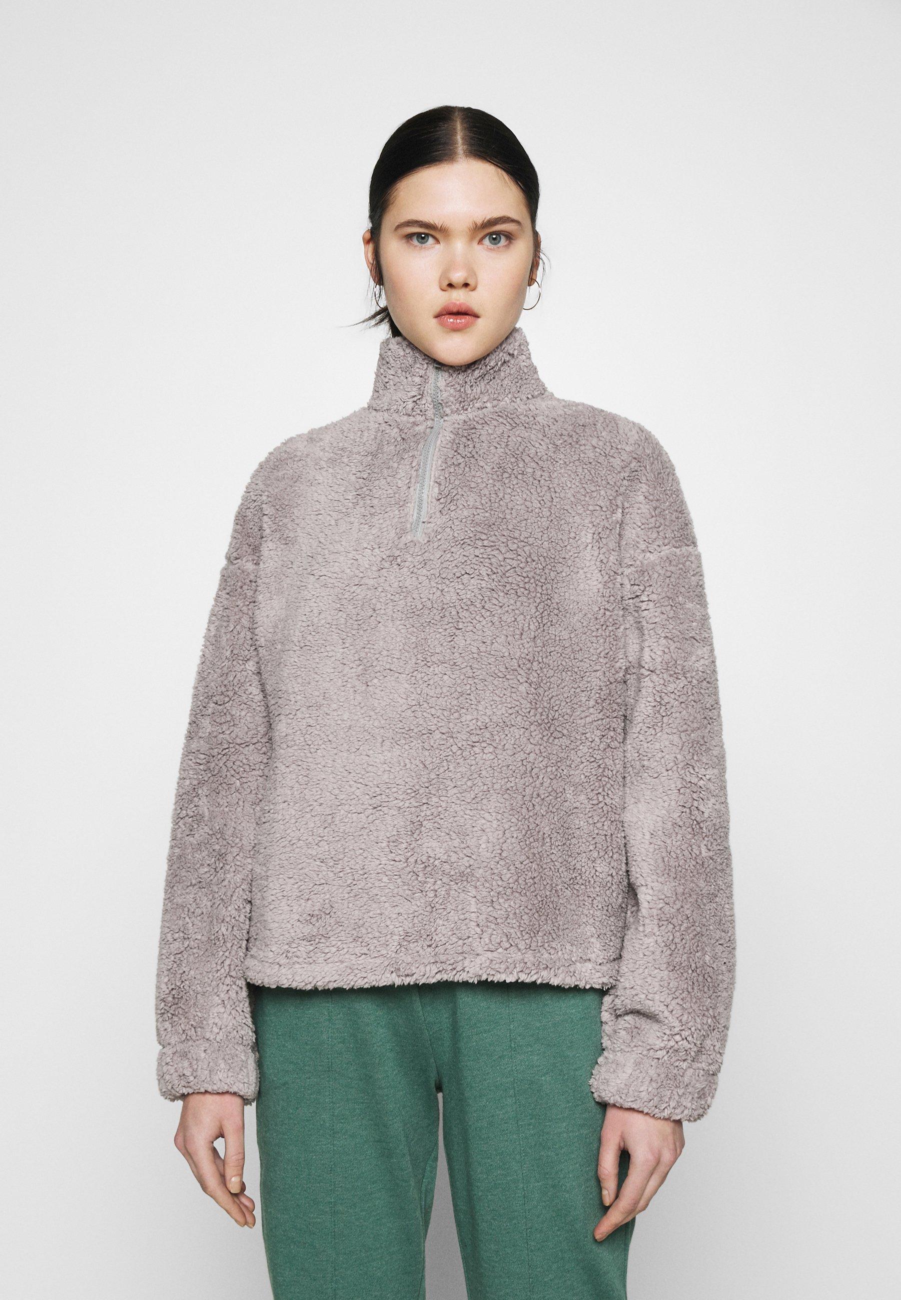 Femme HALF ZIP - Sweat polaire - gray