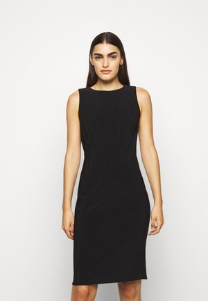 BONDED DRESS - Shift dress - black