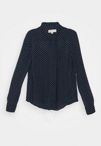 MICHAEL Michael Kors - PERFECT DOTS BOW BLOUSE - Button-down blouse - dark blue - 0