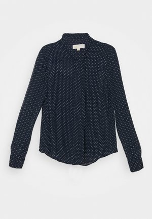 PERFECT DOTS BOW BLOUSE - Button-down blouse - dark blue