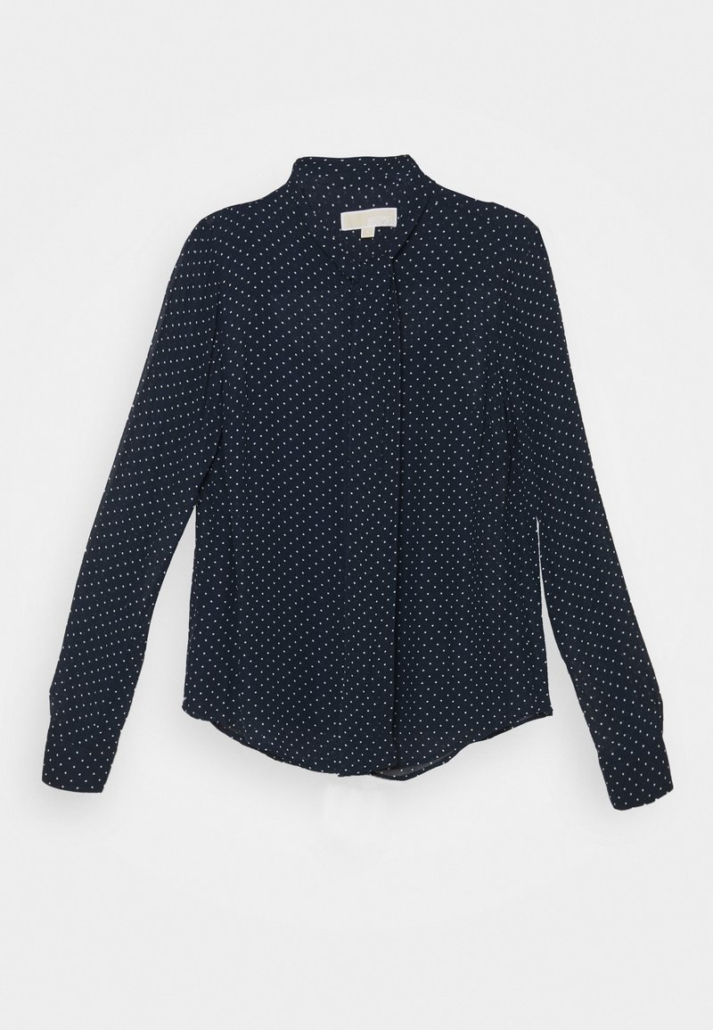 MICHAEL Michael Kors - PERFECT DOTS BOW BLOUSE - Button-down blouse - dark blue