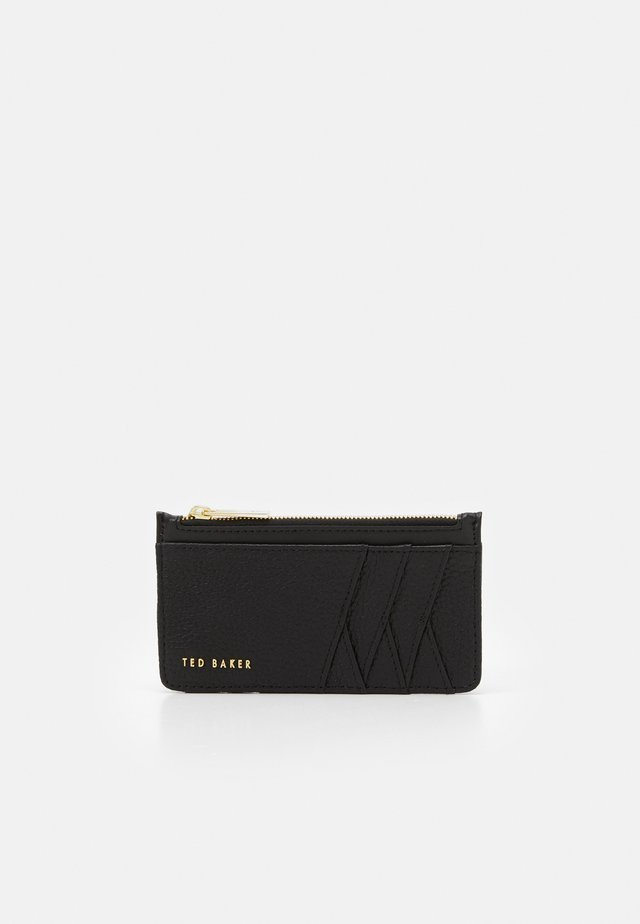 GERII DIAGONAL ZIPPED HOLDER - Portefeuille - black
