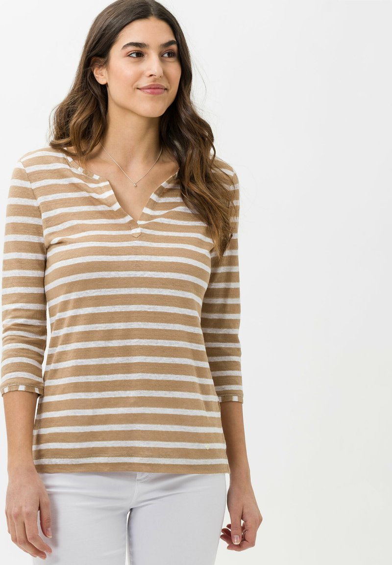 BRAX - STYLE CLAIRE - Long sleeved top - sand
