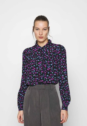 GENIA PRINT - Button-down blouse - dark blue