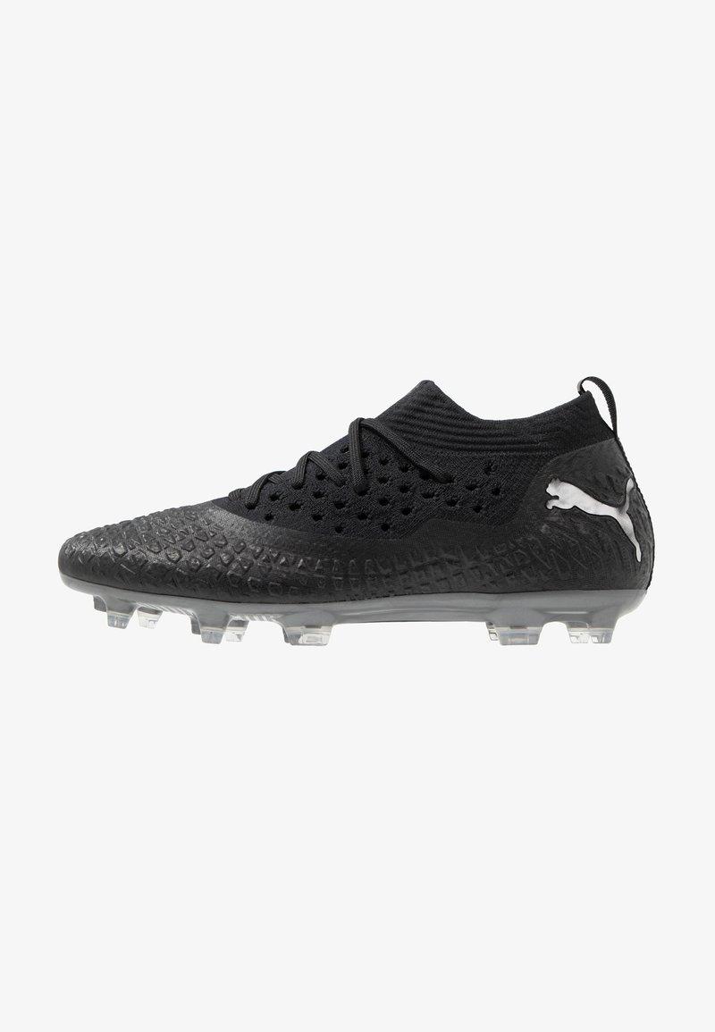 Puma - FUTURE 4.2 NETFIT FG/AG - Moulded stud football boots - black/aged silver