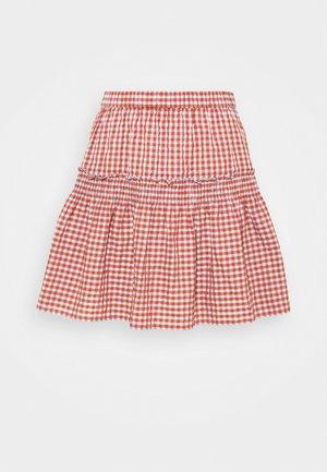 SMOCKED MINI SKIRT  - Mini skirt - pale dawn