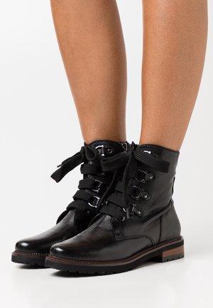 NADIA - Šněrovací kotníkové boty - black