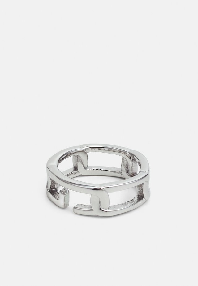 CHAIN ON RAILS - Ring - silver-coloured