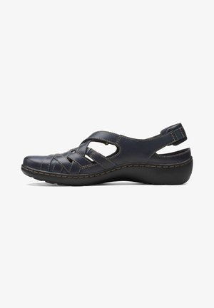 Walking sandals - navy leather