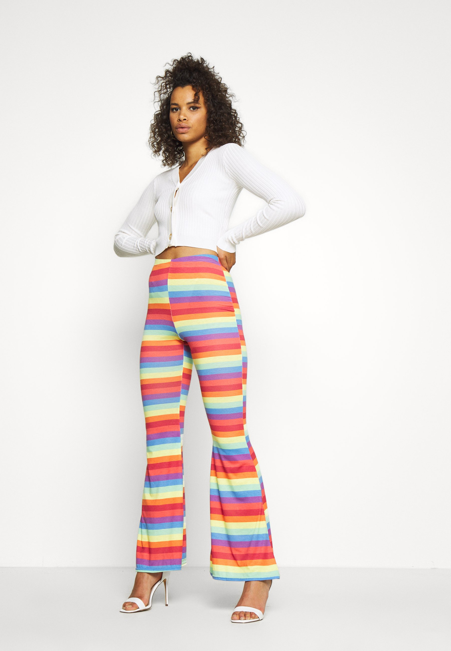 Missguided Tall Skinny Cropped - Cardigan White/hvit