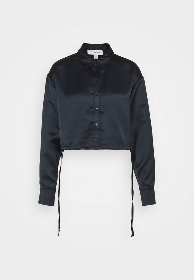 SIDE DRAW STRING CROPPED - Chemisier - black