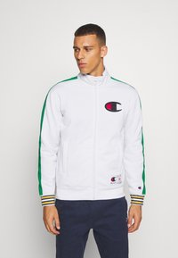 Champion - ROCHESTER RETRO BASKET FULL ZIP - Kurtka sportowa - white/green - 0