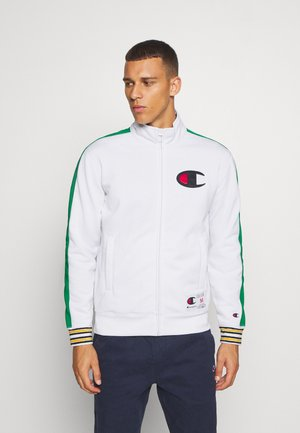 ROCHESTER RETRO BASKET FULL ZIP - Träningsjacka - white/green