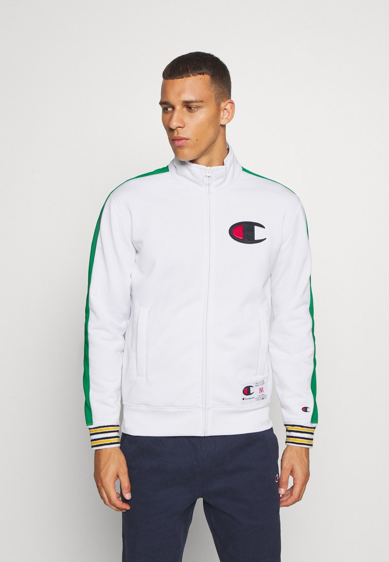 Champion - ROCHESTER RETRO BASKET FULL ZIP - Kurtka sportowa - white/green