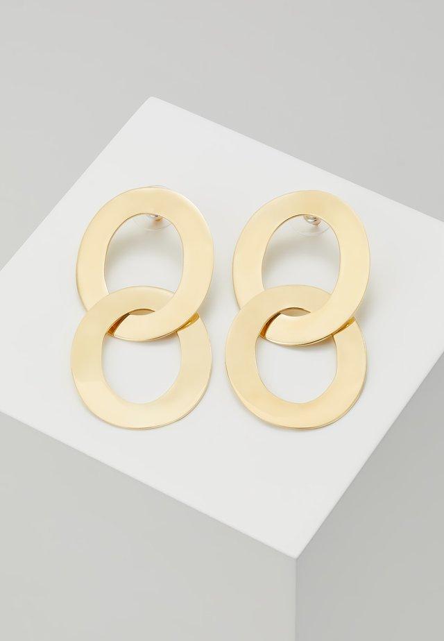 MAXI LINKED DROP EARRINGS - Oorbellen - gold-coloured