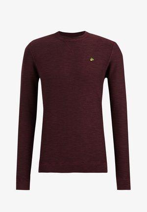 MET STRUCTUUR - Stickad tröja - burgundy red