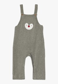 mothercare - BABY PENGUIN DUNGAREE SET  - Body - grey - 2