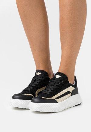 Baskets basses - black/shiny gold
