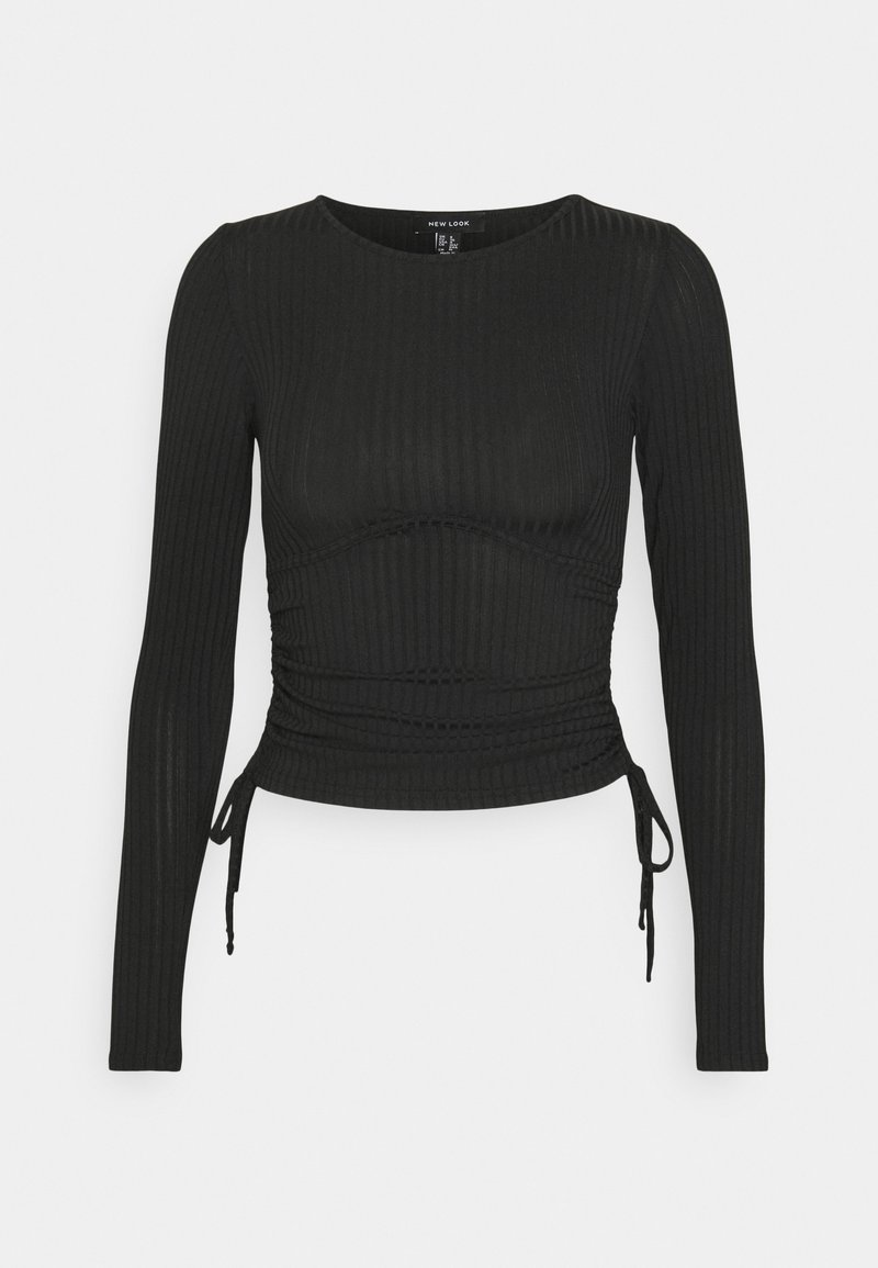 New Look - CARLY RUCHED SIDE - Langærmede T-shirts - black
