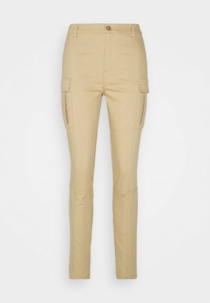 DELUSO PANTALONE STRETCH - Cargo trousers - beige
