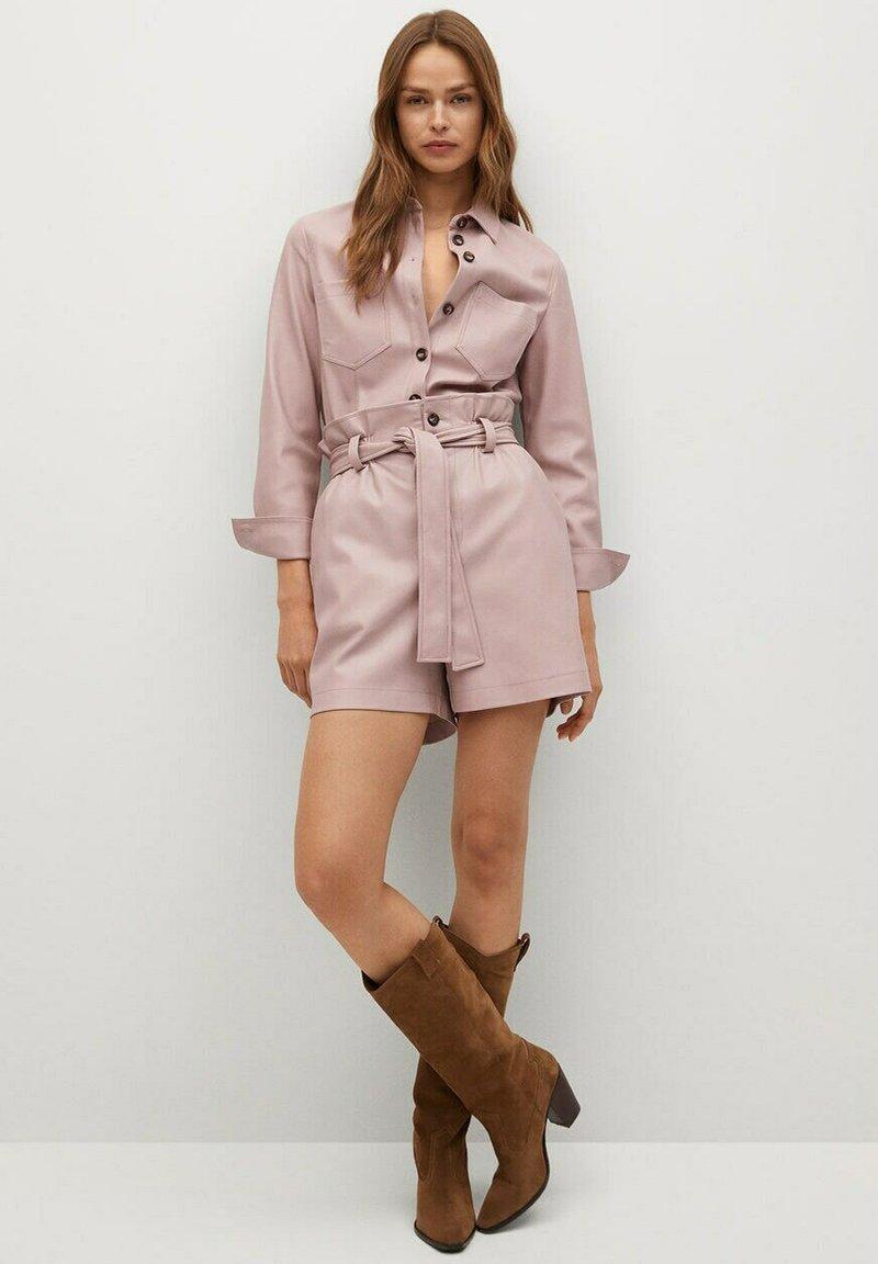 Mango - NASTIA - Button-down blouse - rosa pastel