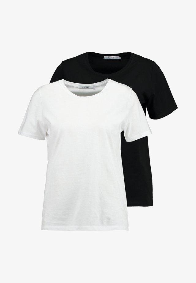 CREW TEE 2 PACK - Jednoduché triko - black/white
