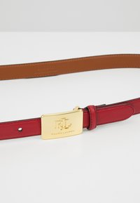 Lauren Ralph Lauren - SUPER SMOOTH LOGO - Belt - crimson - 4