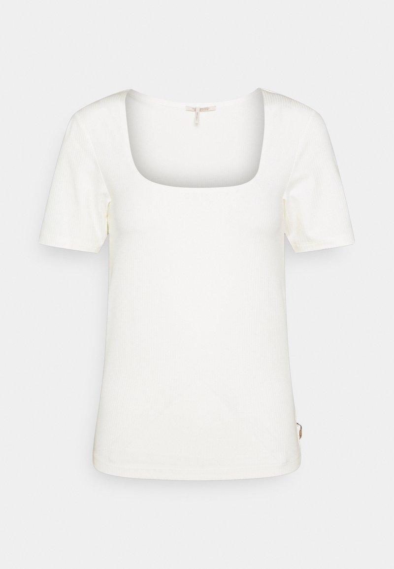 Scotch & Soda - FITTED SQUARE NECK TEE - T-shirt basic - ecru