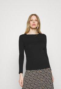 Marks & Spencer London - REGULAR CREW - Long sleeved top - black - 0