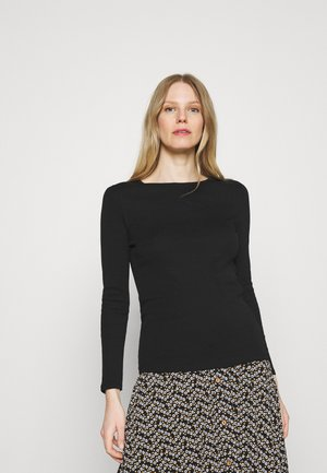 REGULAR CREW - Long sleeved top - black