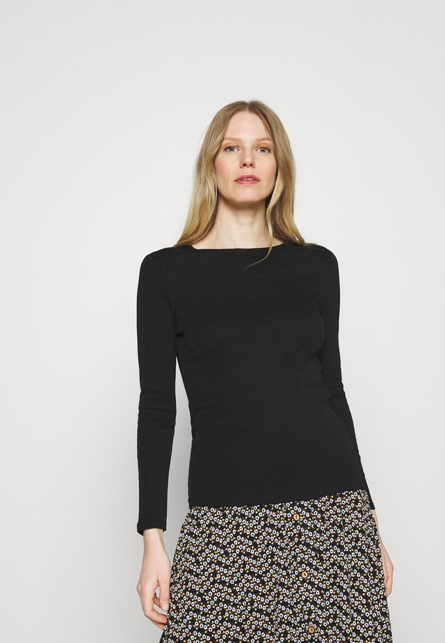 REGULAR CREW - Maglietta a manica lunga - black