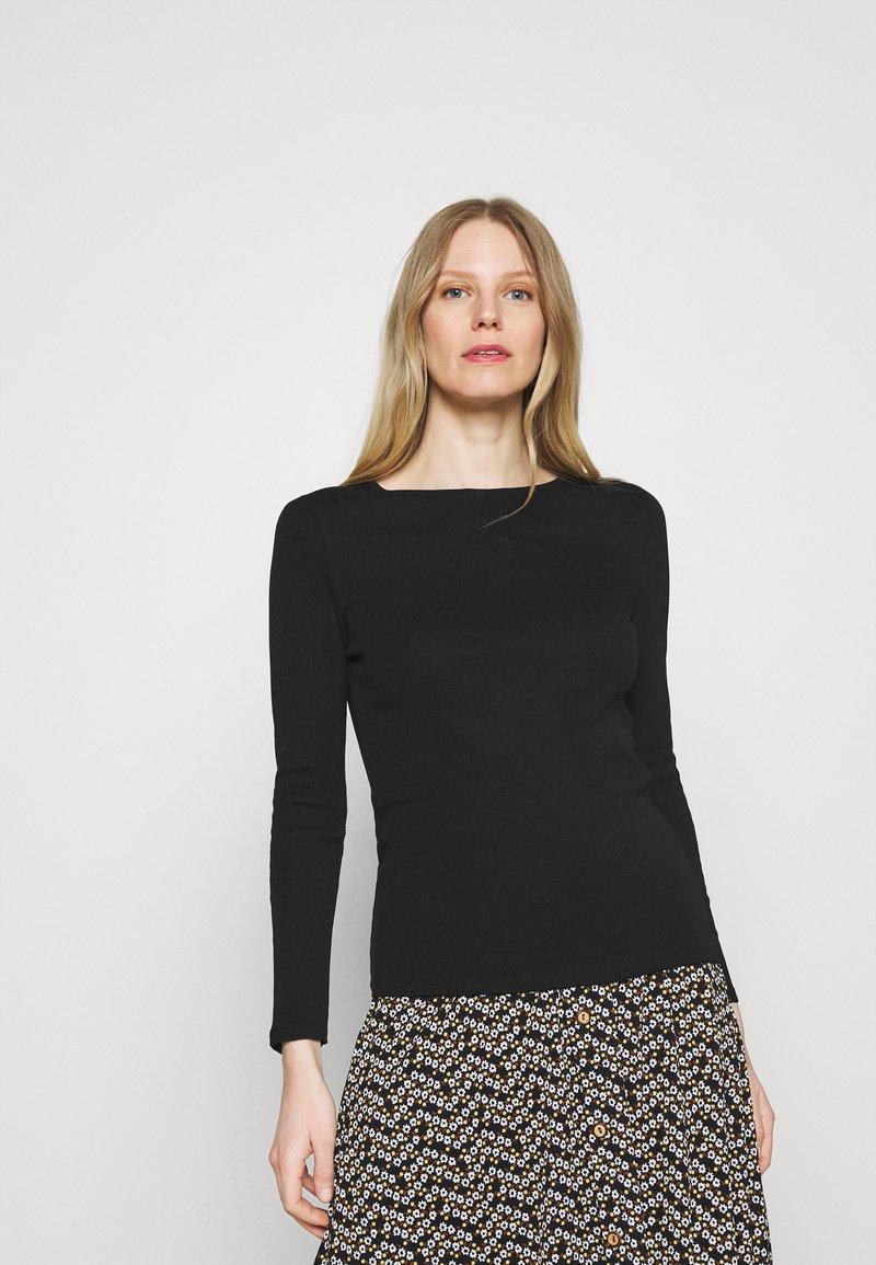 Marks & Spencer London - REGULAR CREW - Long sleeved top - black