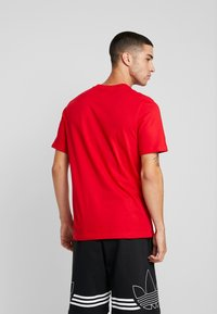 adidas Originals - TREFOIL UNISEX - T-shirt print - red/white - 2
