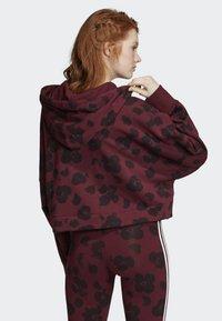 adidas Originals - BELLISTA ALLOVER PRINT CROPPED HOODIE - Sweatshirt - red - 1