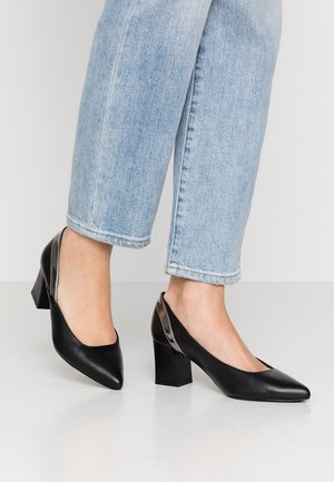 Klassiske pumps - silver/black