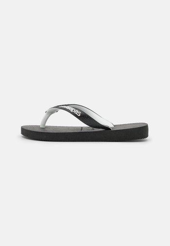 TOP MIX - T-bar sandals - black