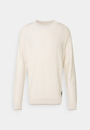 CLASSIC HIGH NECK PULL - Jumper - ecru melange