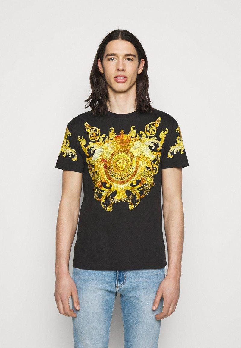 Versace Jeans Couture - GOLD BAROQUE - Print T-shirt - black