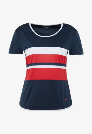 SAMIRA - T-Shirt print - peacoat blue/red