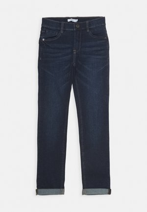 NKMTHEO PANT - Džíny Slim Fit - dark blue denim